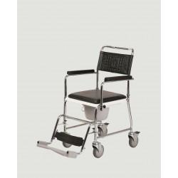Chaise percée sur roulettes...